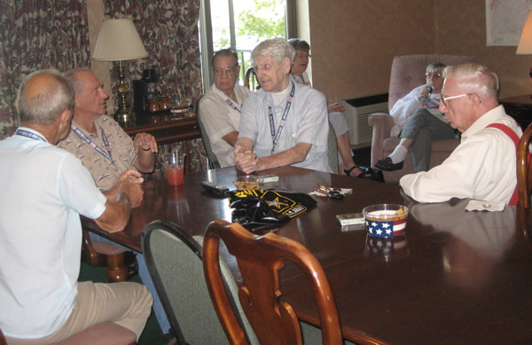 Bob Mitchell, Frank Bottoni, Frank West & Bill Rate (all @ table) Allen Jants, Marge Stagner & Helen West in background