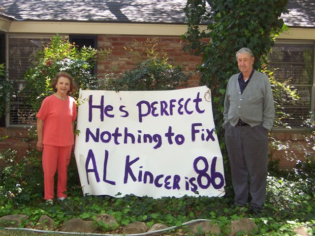 Al Kincer's 86th Birthday with wife Betty