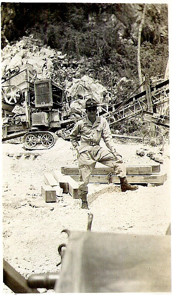 Lt. Mike Gomez, Ipo Rock Quarry, PI, 1946