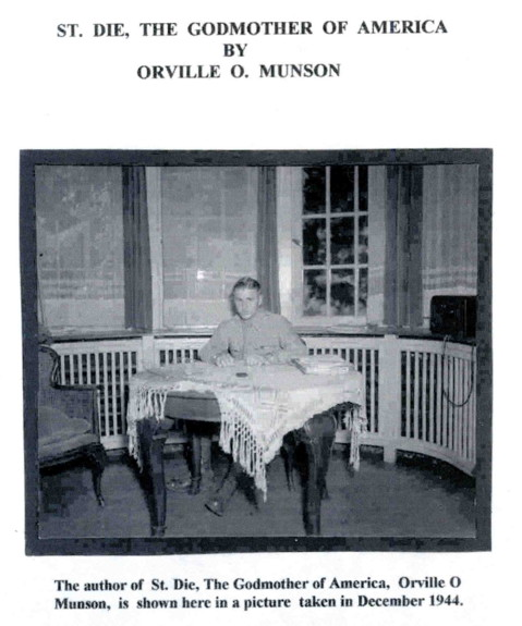 St Die the Godmother of America by Orville O Munson