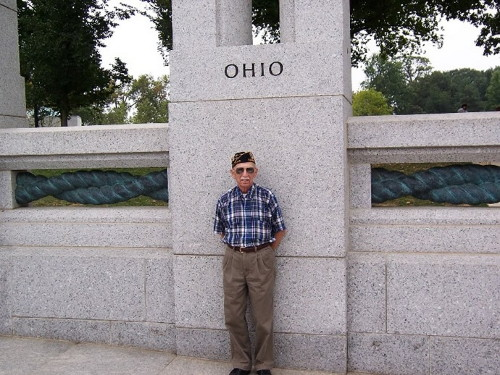 Lawrence at the WWII Memorial DC