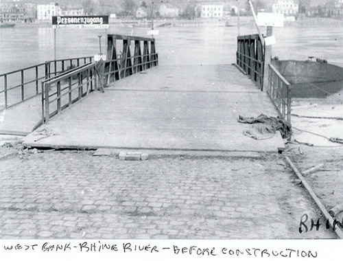 West bank of the Rhine River before construction