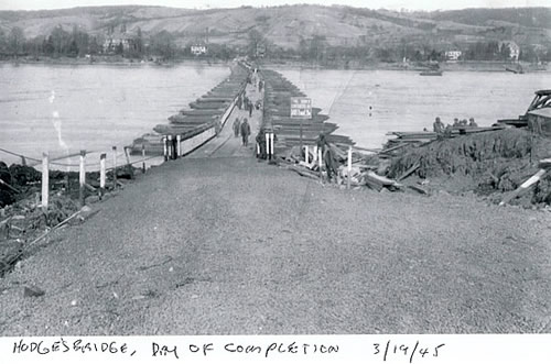 Hodges Bridge day of completion March 19, 1945