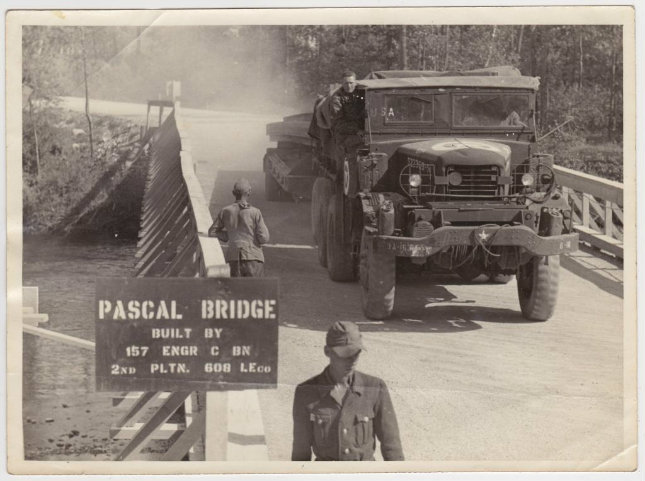 bridge named after Tec 4 Pascal - 157th - who drowned during the construction of the bridge.jpg